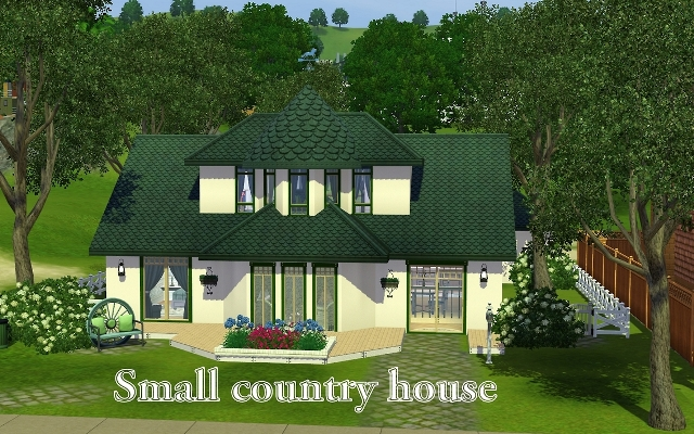 Sims 3 Residential lot Small country house by ihelen at ihelensims.org.ru