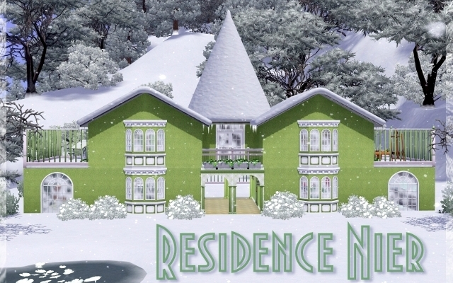 Sims 3 Residential lot Residence Nier by ihelen at ihelensims.org.ru