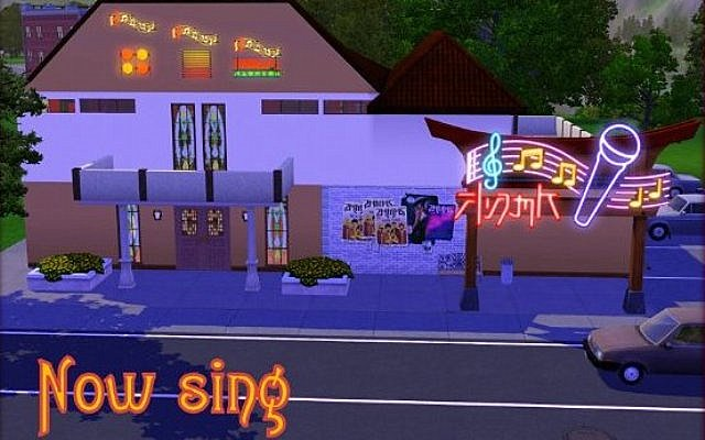 Sims 3 Community lot Караоке-бар Now Sing by ihelen at ihelensims.org.ru