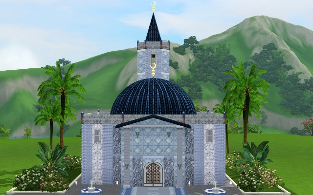 Sims 3 Community lot Mosque Shadigul by ihelen at ihelensims.org.ru