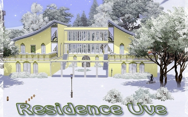 Sims 3 Residential lot Residence Uve by ihelen at ihelensims.org.ru