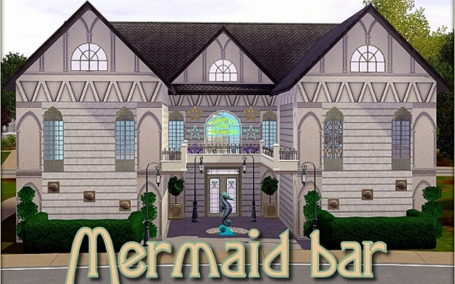 Sims 3 Community lot Mermaid bar by ihelen at ihelensims.org.ru