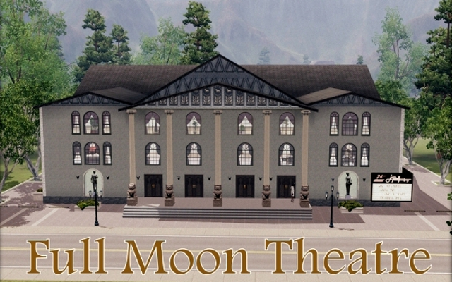 Sims 3 Community lot Full Moon Theatre by ihelen at ihelensims.org.ru