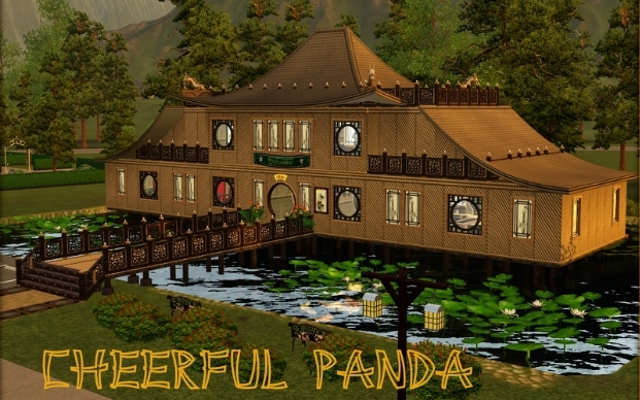 Sims 3 Community lot Cheerful Panda by ihelen at ihelensims.org.ru