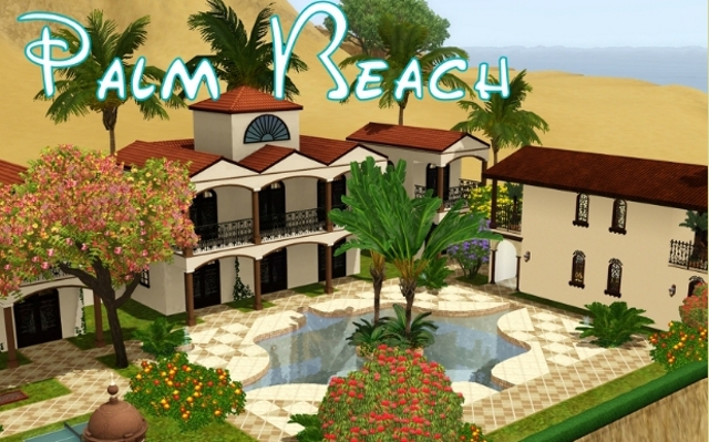 Sims 3 Community lot Palm Beach by ihelen at ihelensims.org.ru