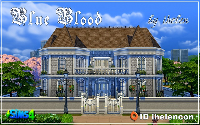 Sims 4 Residential lot Blue Blood by ihelen at ihelensims.org.ru