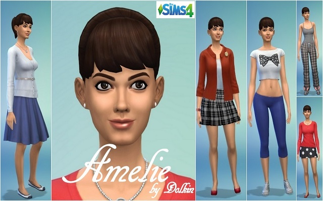 Sims 4 Sims model Amelie by Dolkin at ihelensims.org.ru