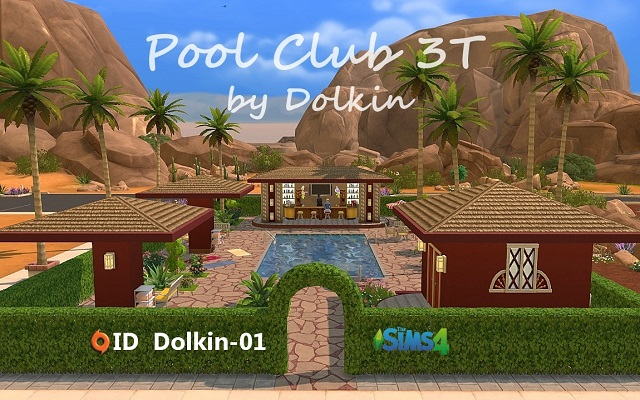 Sims 4 Community lot Pool Club 3T by Dolkin at ihelensims.org.ru