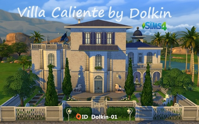 Sims 4 Residential lot Villa Caliente by Dolkin at ihelensims.org.ru