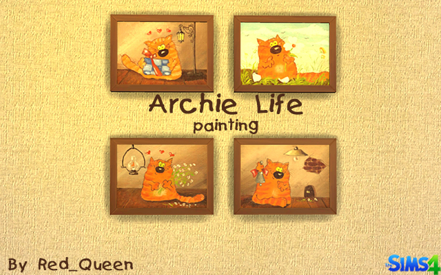 Sims 4 Decor Archie Life by Red_Queen at ihelensims.org.ru