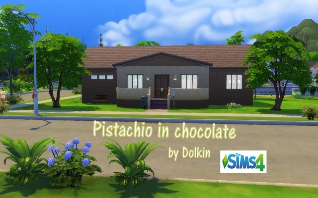 Sims 4 Residential lot Pistachio in chocolate by Dolkin at ihelensims.org.ru