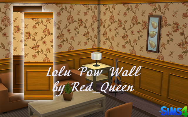 Sims 4 Build/Walls/Floors Lolu Pow Wall by Red_Queen at ihelensims.org.ru