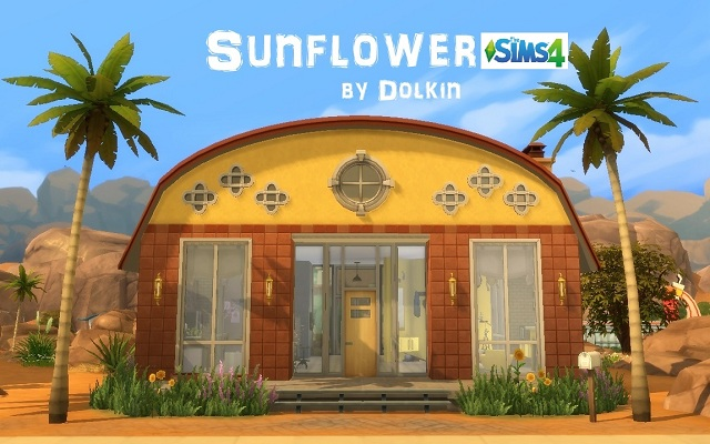 Sims 4 Residential lot Sunflower by Dolkin at ihelensims.org.ru