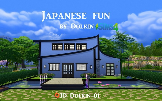Sims 4 Residential lot Japanese fun by Dolkin at ihelensims.org.ru