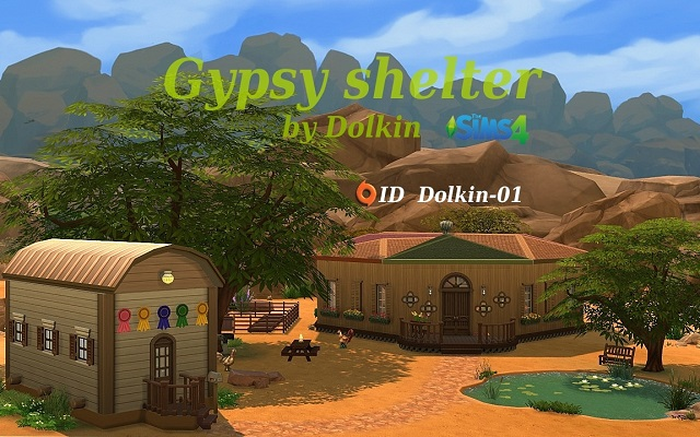 Sims 4 Residential lot Gypsy shelter by Dolkin at ihelensims.org.ru