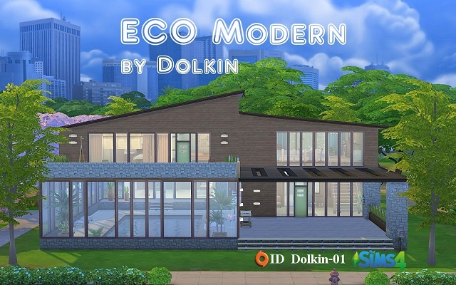 Sims 4 Residential lot ECO Modern by Dolkin at ihelensims.org.ru