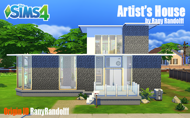 Sims 4 Residential lot Artist's House by Rany Randolff at ihelensims.org.ru