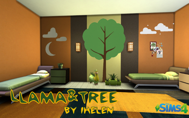 Sims 4 Rooms Llama&Tree by ihelen at ihelensims.org.ru