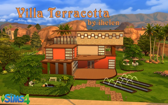 Sims 4 Residential lot Villa Terracotta by ihelen at ihelensims.org.ru