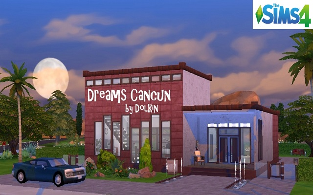 Sims 4 Residential lot Dreams Cancun by Dolkin at ihelensims.org.ru