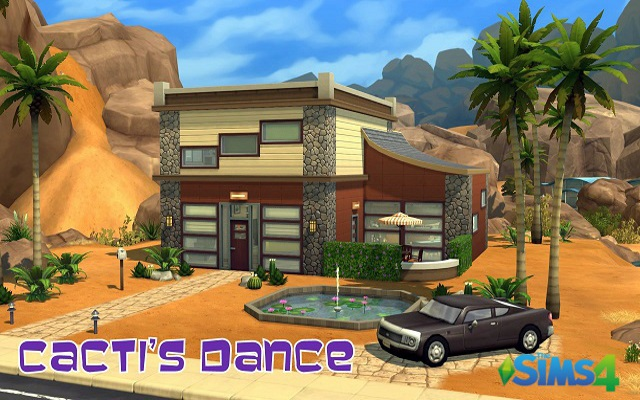 Sims 4 Residential lot Cacti's dance by ihelen at ihelensims.org.ru