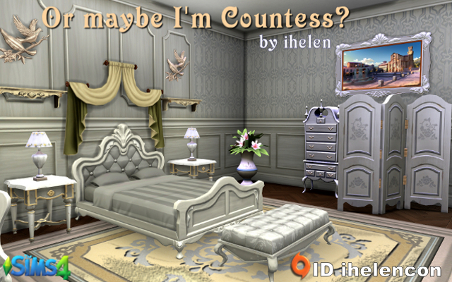 Sims 4 Rooms Bedroom Or maybe I'm Countess by ihelen at ihelensims.org.ru
