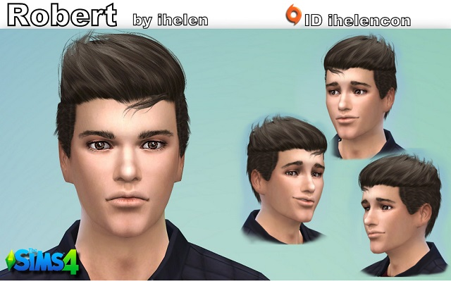 Sims 4 Sims model Robert by ihelen at ihelensims.org.ru