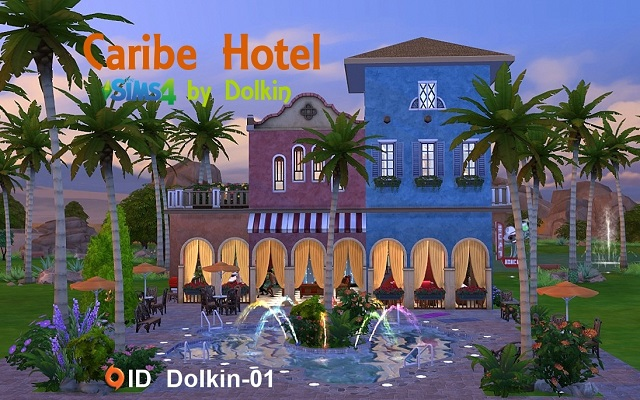 Sims 4 Community lot Caribe Hotel by Dolkin at ihelensims.org.ru