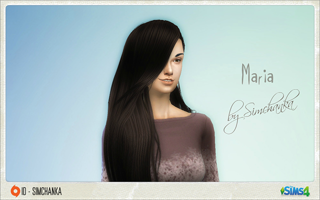Sims 4 Sims model Maria by Simchanka at ihelensims.org.ru