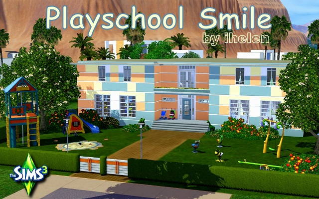 Sims 3 Community lot Playschool Smile by ihelen at ihelensims.org.ru