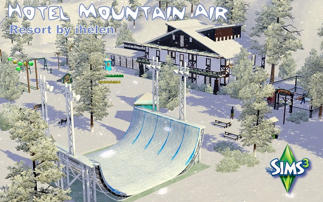 Sims 3 Community lot Hotel Mountain Air by ihelen at ihelensims.org.ru
