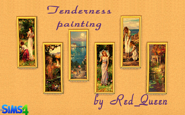Sims 4 Decor Tenderness Painting by Red_Queen at ihelensims.org.ru