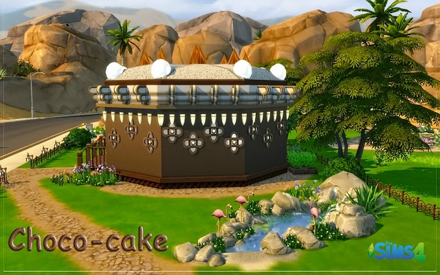 Sims 4 Community lot Рastry shop «Choco-cake»  by fatalist at ihelensims.org.ru