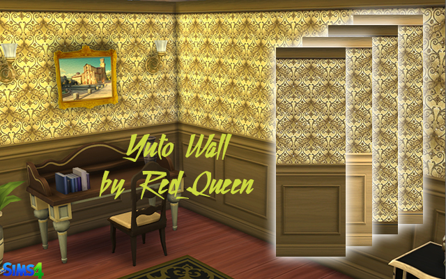Sims 4 Build/Walls/Floors Yuto Wall by Red_Queen at ihelensims.org.ru