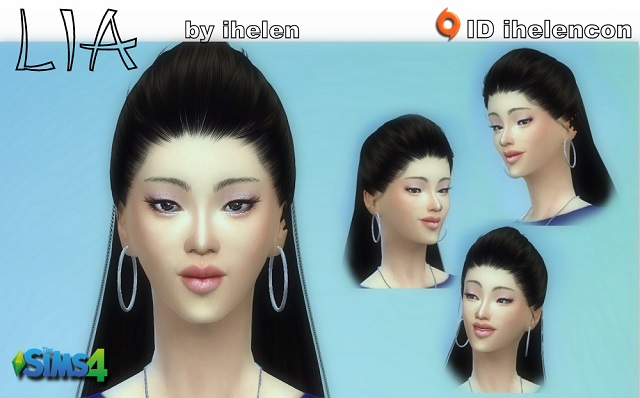 Sims 4 Sims model Lia by ihelen at ihelensims.org.ru