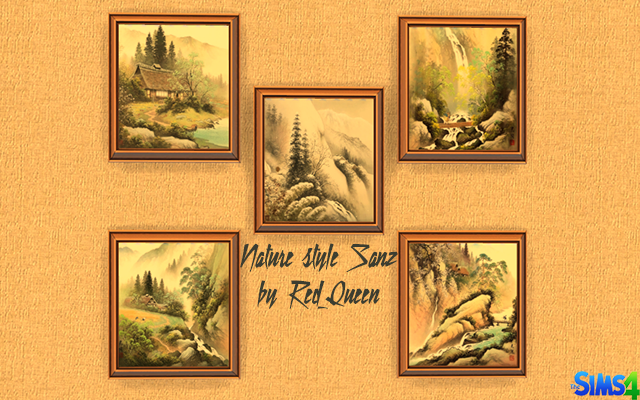 Sims 4 Decor Nature style Sanz Painting by Red_Queen at ihelensims.org.ru