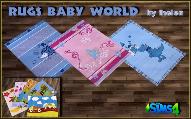 Sims 4 Decor Rugs Baby World by ihelen at ihelensims.org.ru