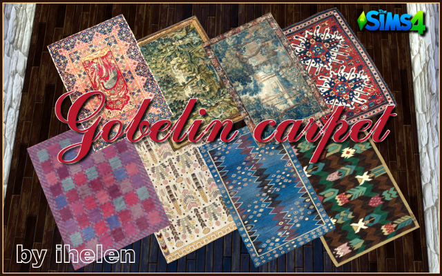Sims 4 Decor Gobelin carpet by ihelen at ihelensims.org.ru