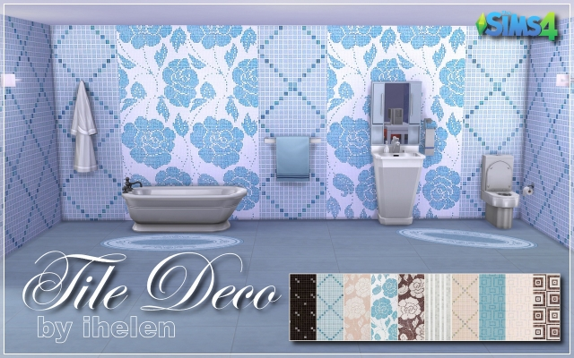 Sims 4 Build/Walls/Floors Tile Deco by ihelen at ihelensims.org.ru