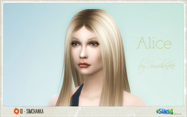Sims 4 Sims model Alice by Simchanka at ihelensims.org.ru