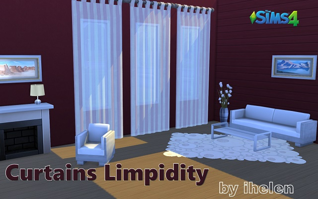 Sims 4 Decor Curtains Limpidity by ihelen at ihelensims.org.ru