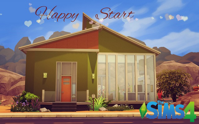 Sims 4 Residential lot Happy Start by Alalilla at ihelensims.org.ru