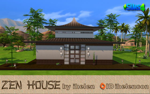 Sims 4 Residential lot Zen House by ihelen at ihelensims.org.ru