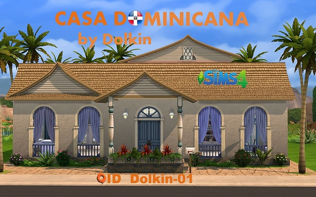Sims 4 Residential lot Casa Dominicana by Dolkin at ihelensims.org.ru