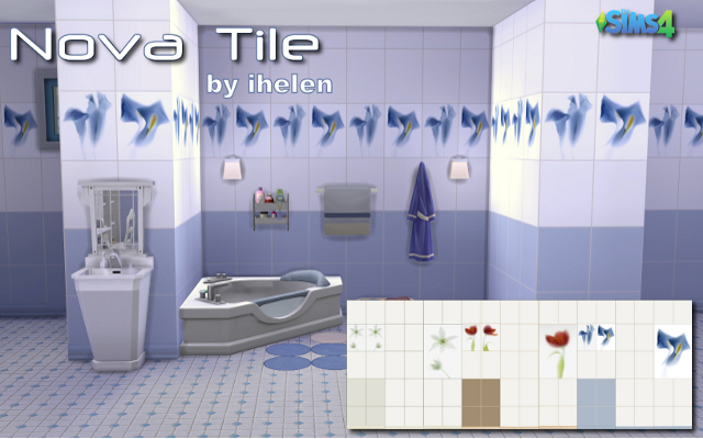 Sims 4 Build/Walls/Floors Nova Tile by ihelen at ihelensims.org.ru