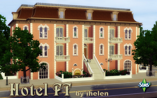 Sims 3 Community lot Hotel FT by ihelen at ihelensims.org.ru