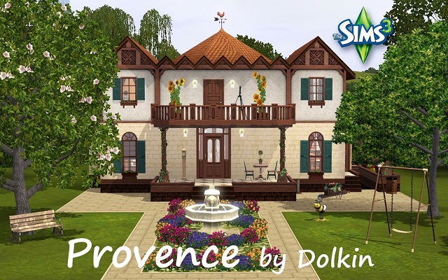 Sims 3 Residential lot Provence by Dolkin at ihelensims.org.ru