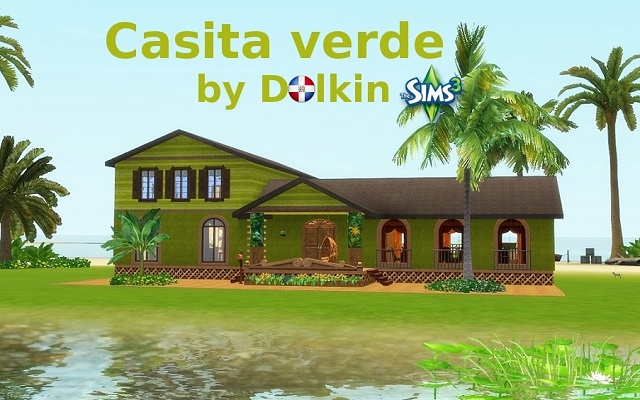 Sims 3 Residential lot Casita verde by Dolkin at ihelensims.org.ru
