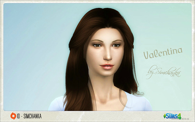 Sims 4 Sims model Valentina by Simchanka at ihelensims.org.ru