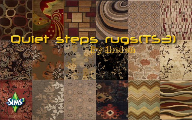 Sims 3 Decor Quiet steps rugs(TS3) by ihelen at ihelensims.org.ru